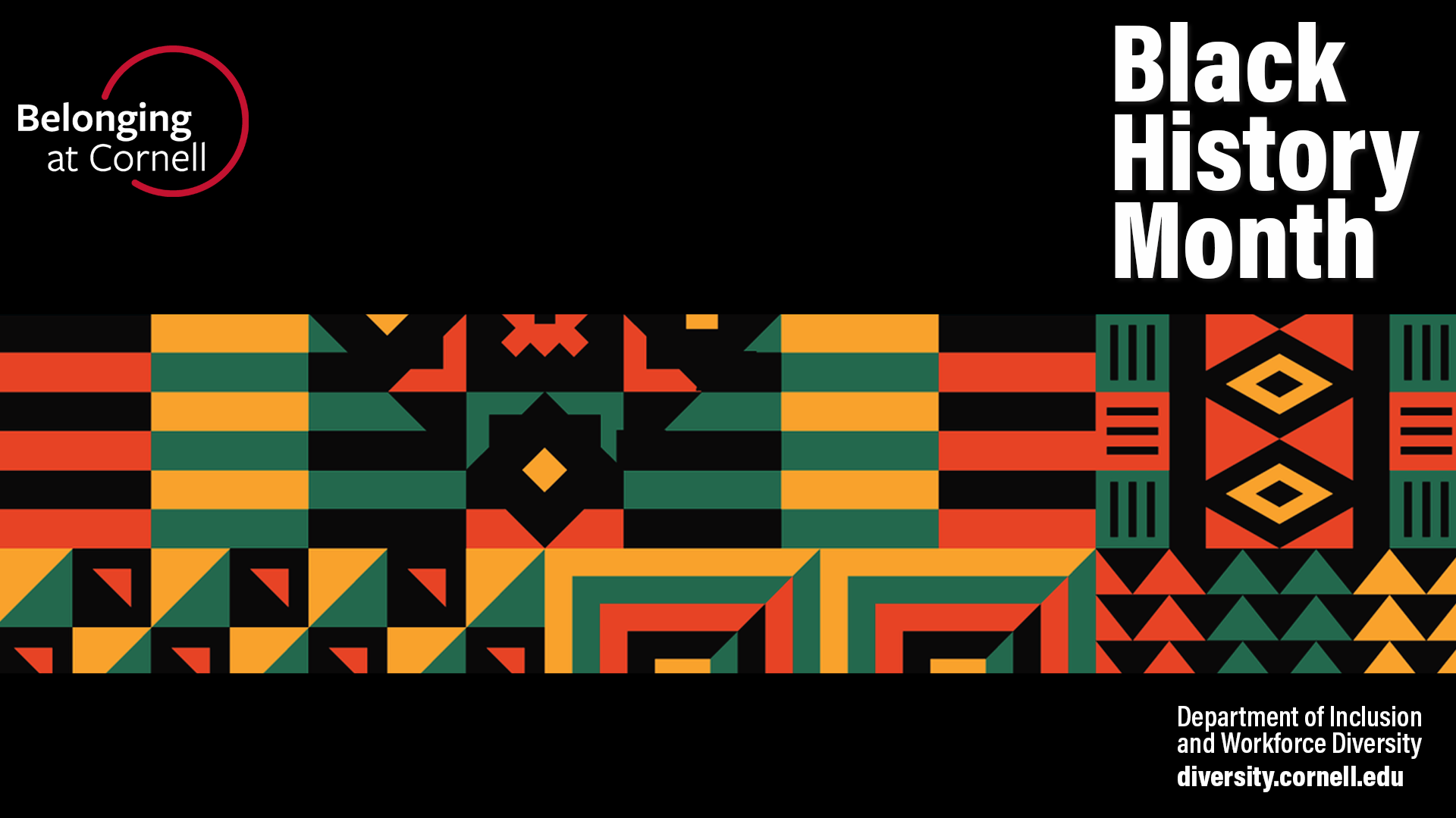 Zoom background visual for Black History Month with kente cloth only