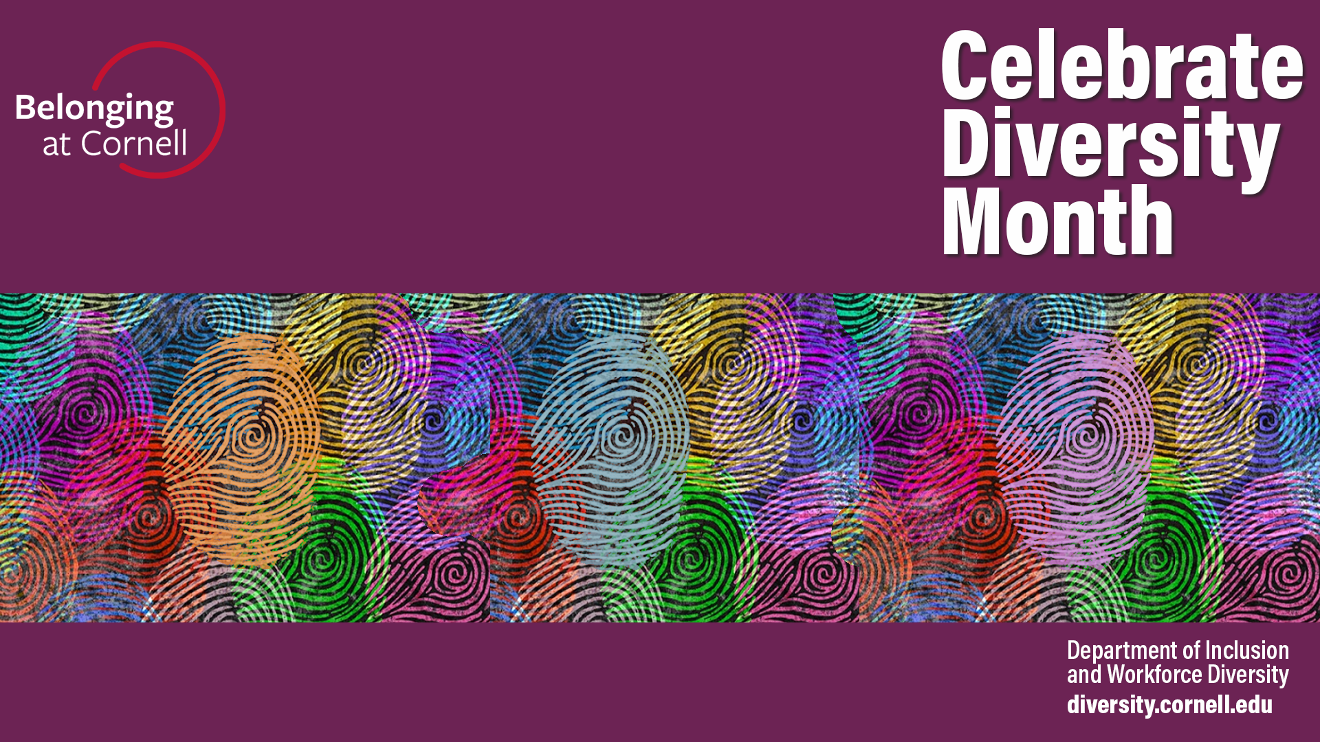 Zoom background for Celebrate Diversity Month